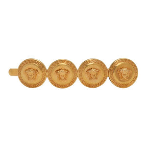 Versace Gold Four-Coin Barrette