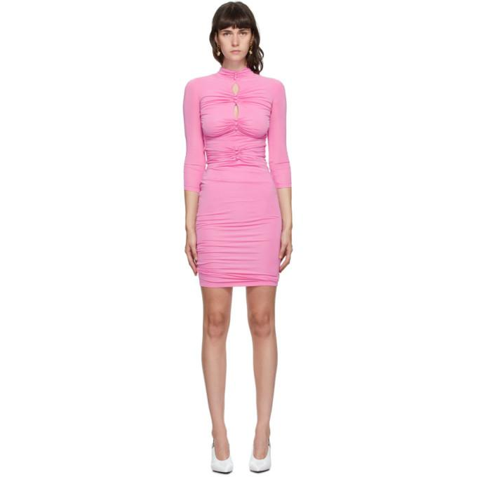 Versace Jeans Couture Pink Ruched Dress