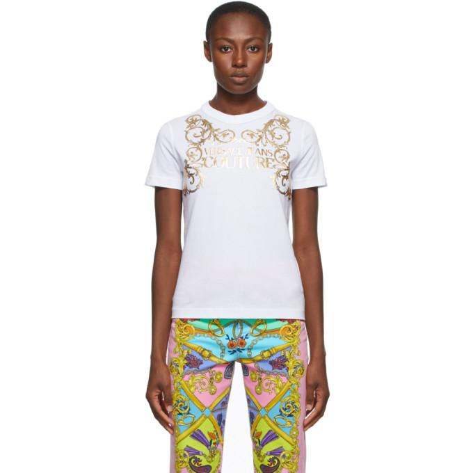 Versace Jeans Couture White Institutional Logo T-Shirt