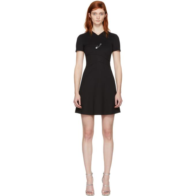 Versus Black Cross Over Safety Pin Dress-BLACKSKINNY.COM