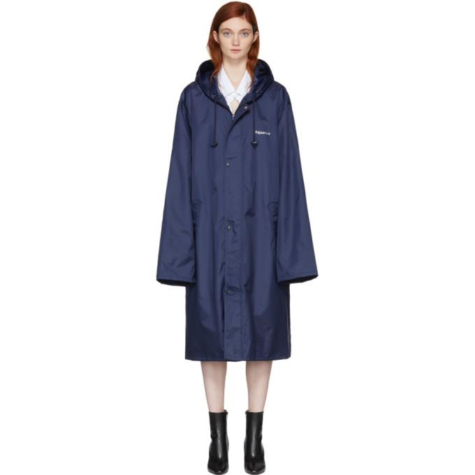 Vetements Navy 'Aquarius' Horoscope Raincoat-BlackSkinny
