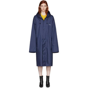 Vetements Navy 'Taurus' Horoscope Raincoat-BlackSkinny