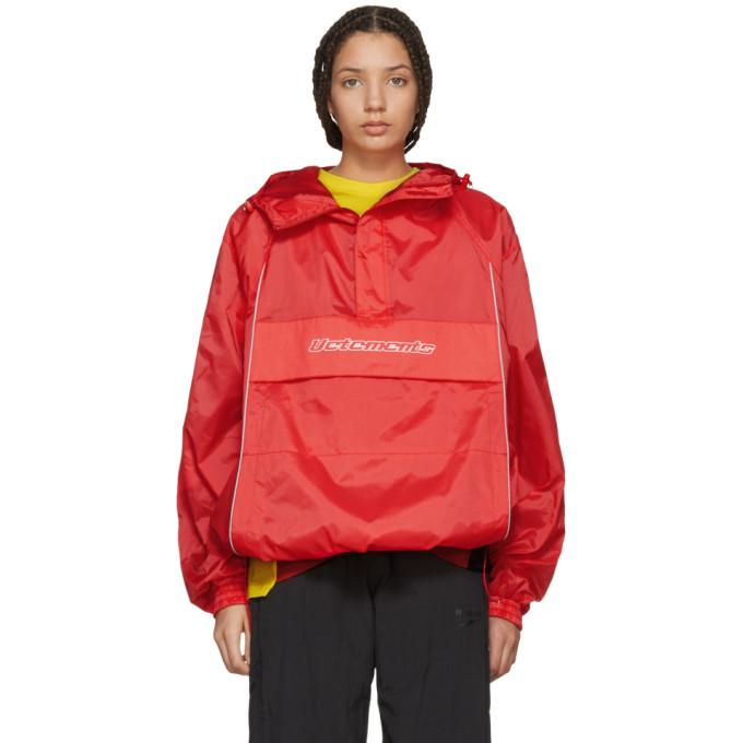 Vetements Red Overhead Half-Zip Jacket-BlackSkinny
