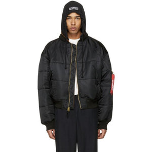 Vetements Reversible Black Alpha Industries Edition Bomber Jacket-BlackSkinny