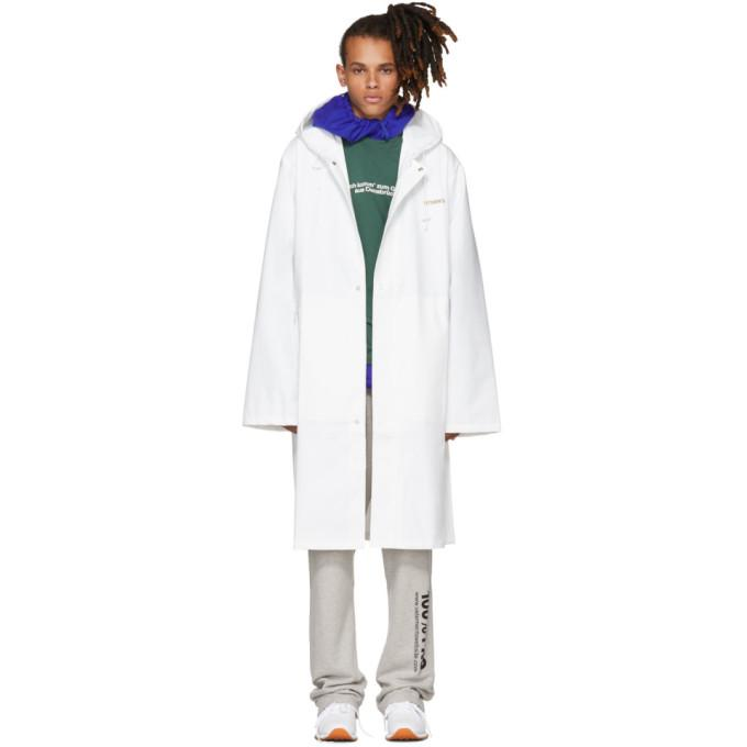 Vetements White Logo Raincoat-BlackSkinny