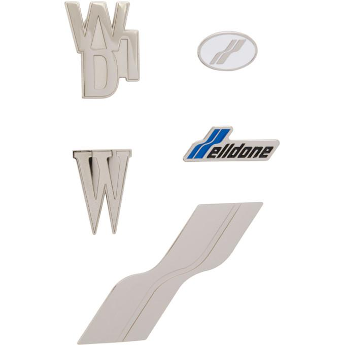 We11done Silver Logo Pin Set