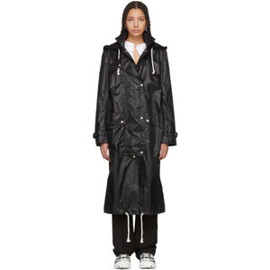 Wendelborn Black Long Windbreaker Coat-BlackSkinny