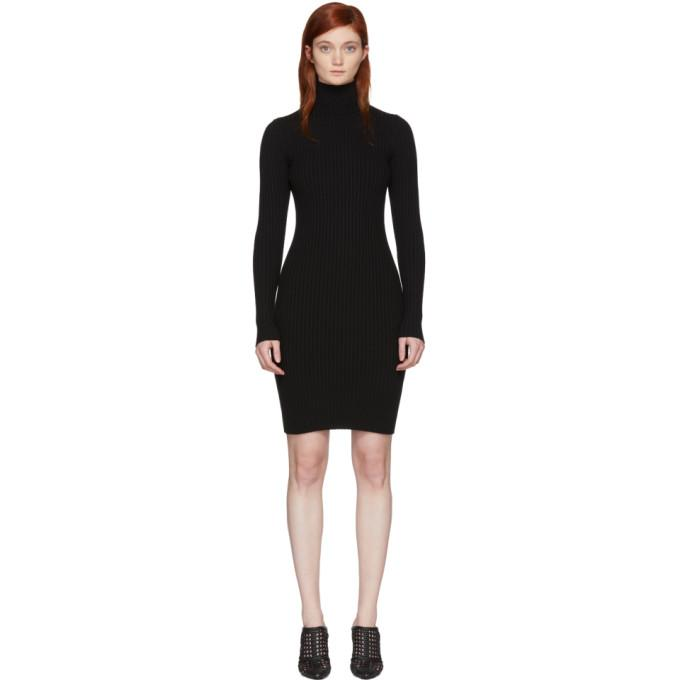 Wolford Black Merino Rib Dress-BLACKSKINNY.COM