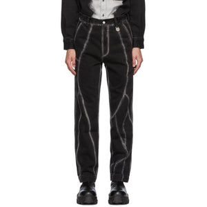 Xander Zhou Black Stripes Jeans