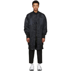 Y-3 Black Long Bomber Jacket-BlackSkinny