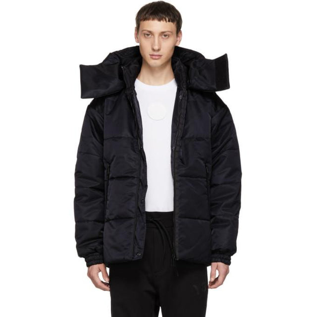 Y-3 Reversible Black Padded Jacket-BlackSkinny