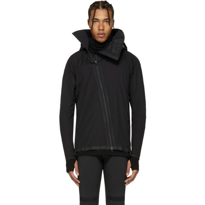 Y-3 SPORT Black Airflow Hooded Jacket-BlackSkinny