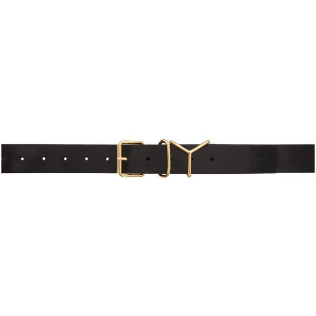 Y/Project Black and Gold Classic Y Belt