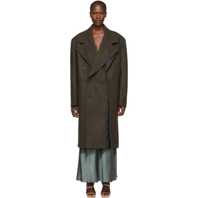 Y/Project Brown Double Panel Coat-BlackSkinny