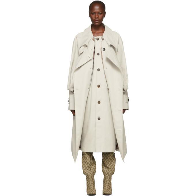 Y/Project Ivory Double Front Trench Coat-BlackSkinny