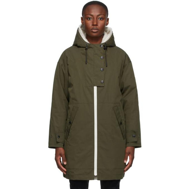 Yves Salomon - Army Green Down Shearling Bachette Long Parka