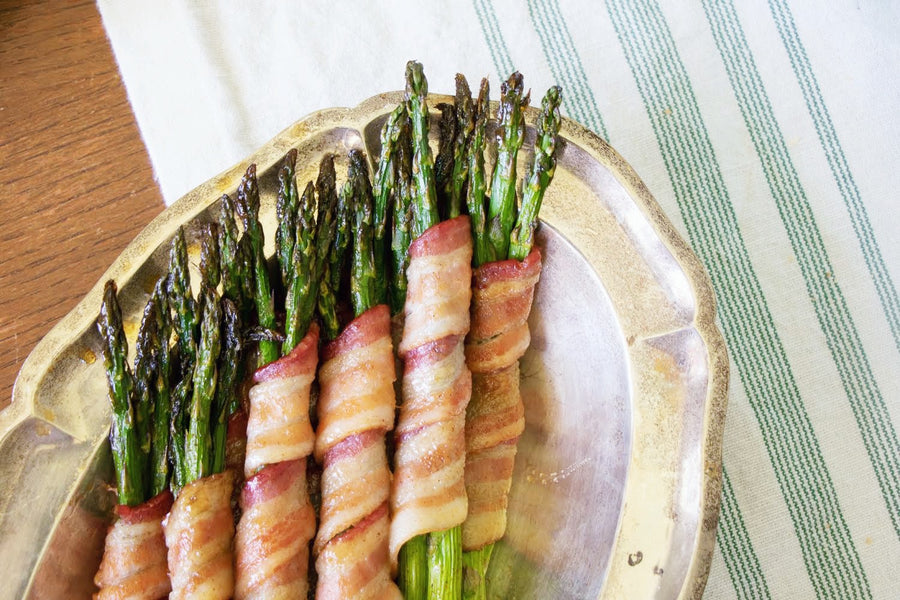 Smokey Maple Bacon Wrapped Asparagus