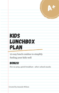 Kids Lunch Box Plan