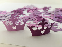 Purple Ombre Princess Crown Table Scatters - Princess Crown Table Confetti