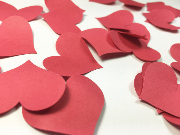 Crimson Red Heart Petal Table Scatters - Red Heart Petal Table Scatters