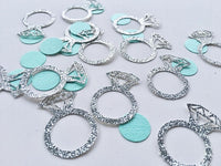 Silver Glitter Engagement Ring Scatters - Wearable Engagement Ring Table Scatters