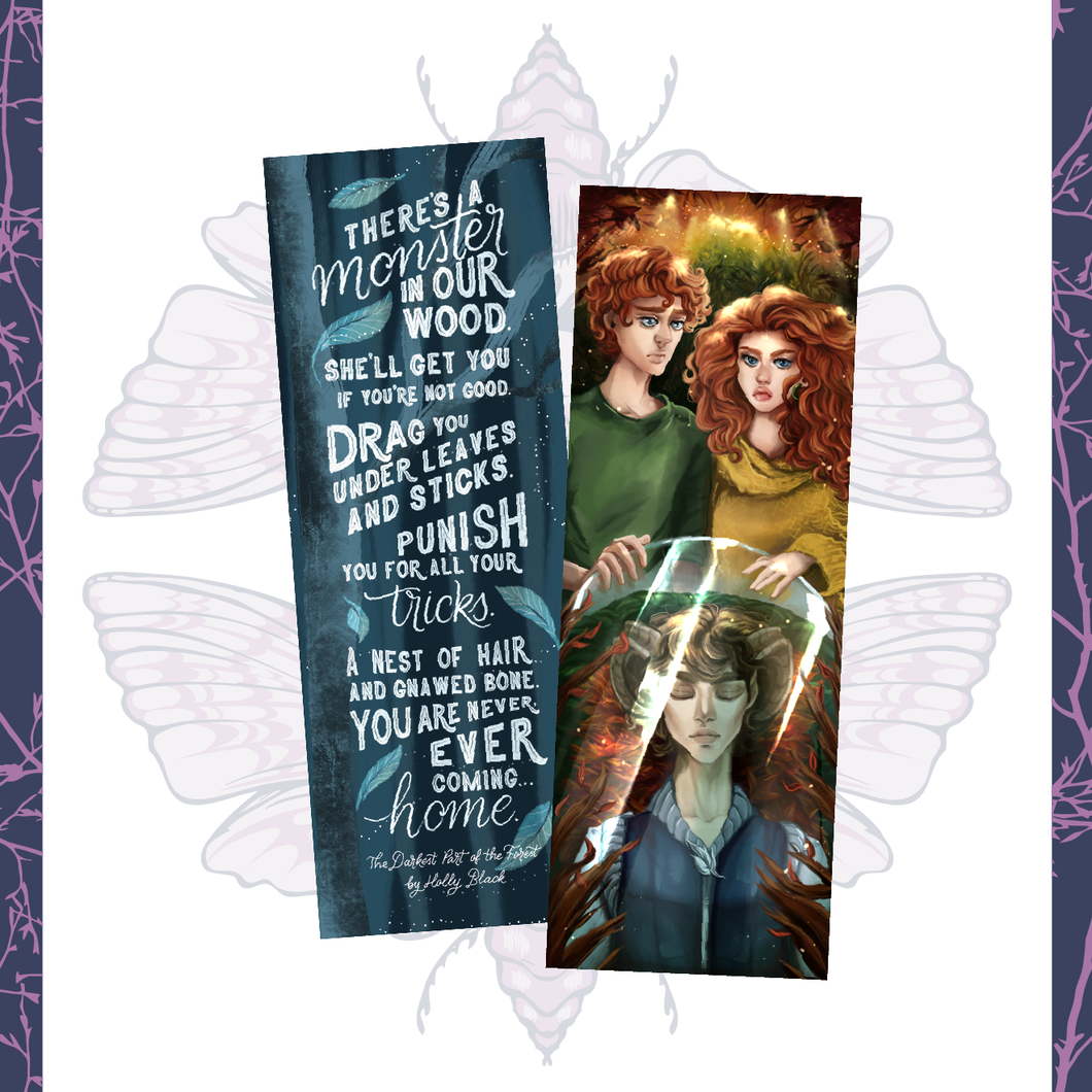 The Darkest Part of the Forest Inspired Bookmark