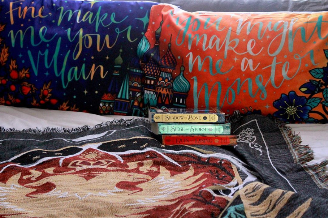 Grisha Inspired Blue Pillow Case