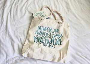 Between the Pages of a Book beach bag