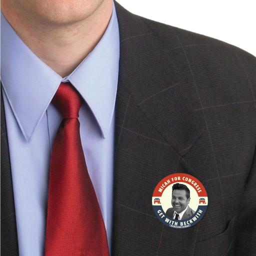 Micah Beckwith for Congress Button