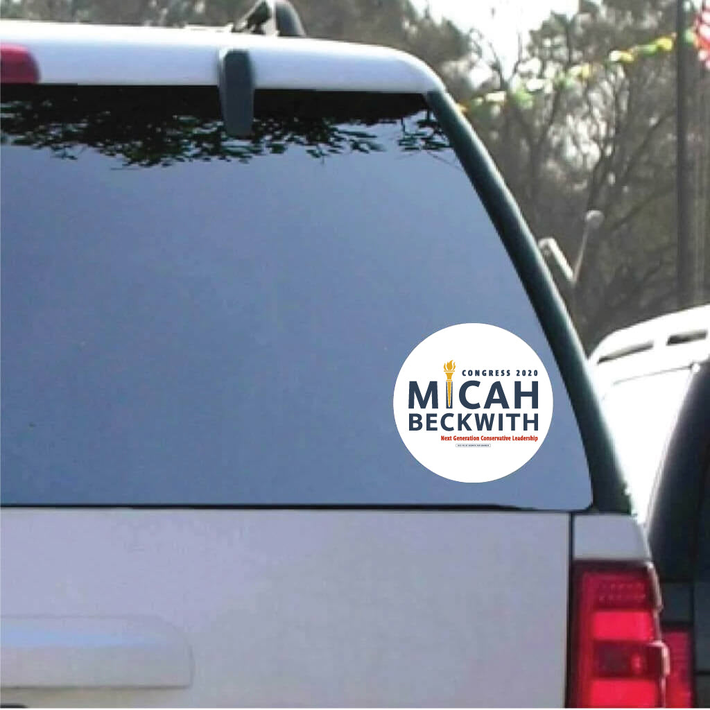 Micah Beckwith for Congress Car Decal