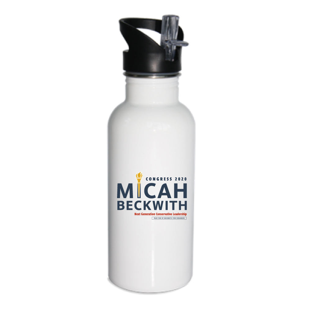Micah Beckwith for Congress waterbottle