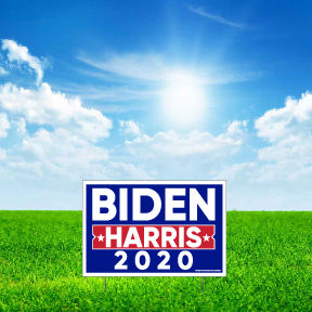 "Biden Harris 2020 12""x18"" Yard Signs with Stakes - Sets of 10-100 - FREE SHIPPING (13469)"