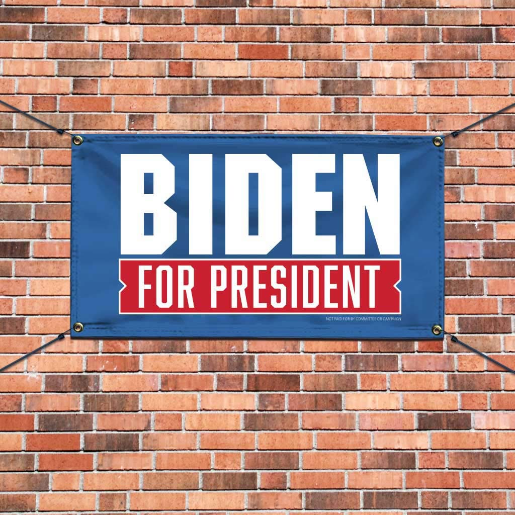 Joe Biden for President 2020 Blue Vinyl Banner