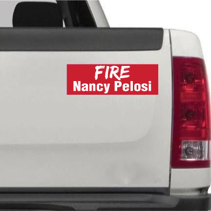 Fire Nancy Pelosi bumper sticker