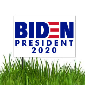 "Joe Biden for President 2020 12""x18"" Yard Signs with Stakes - Sets of 10-100 - FREE SHIPPING"