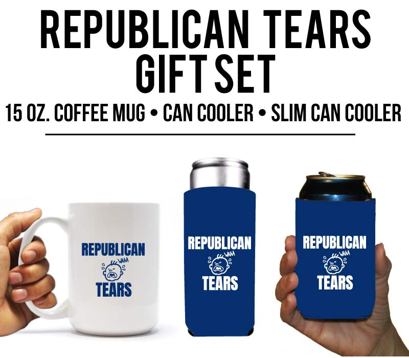Republican Tears Coffee Mug & Can Cooler Gift Set (13716)