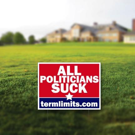 All Politicians Suck Term Limits Yard Sign