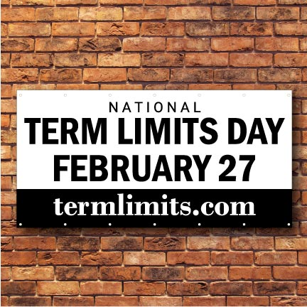 US Term Limits National Term Limits Day 3'x6' Banner FREE SHIPPING