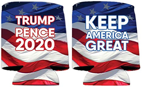 Trump Pence 2020 Can Coolers - Keep America Great - Set of 6