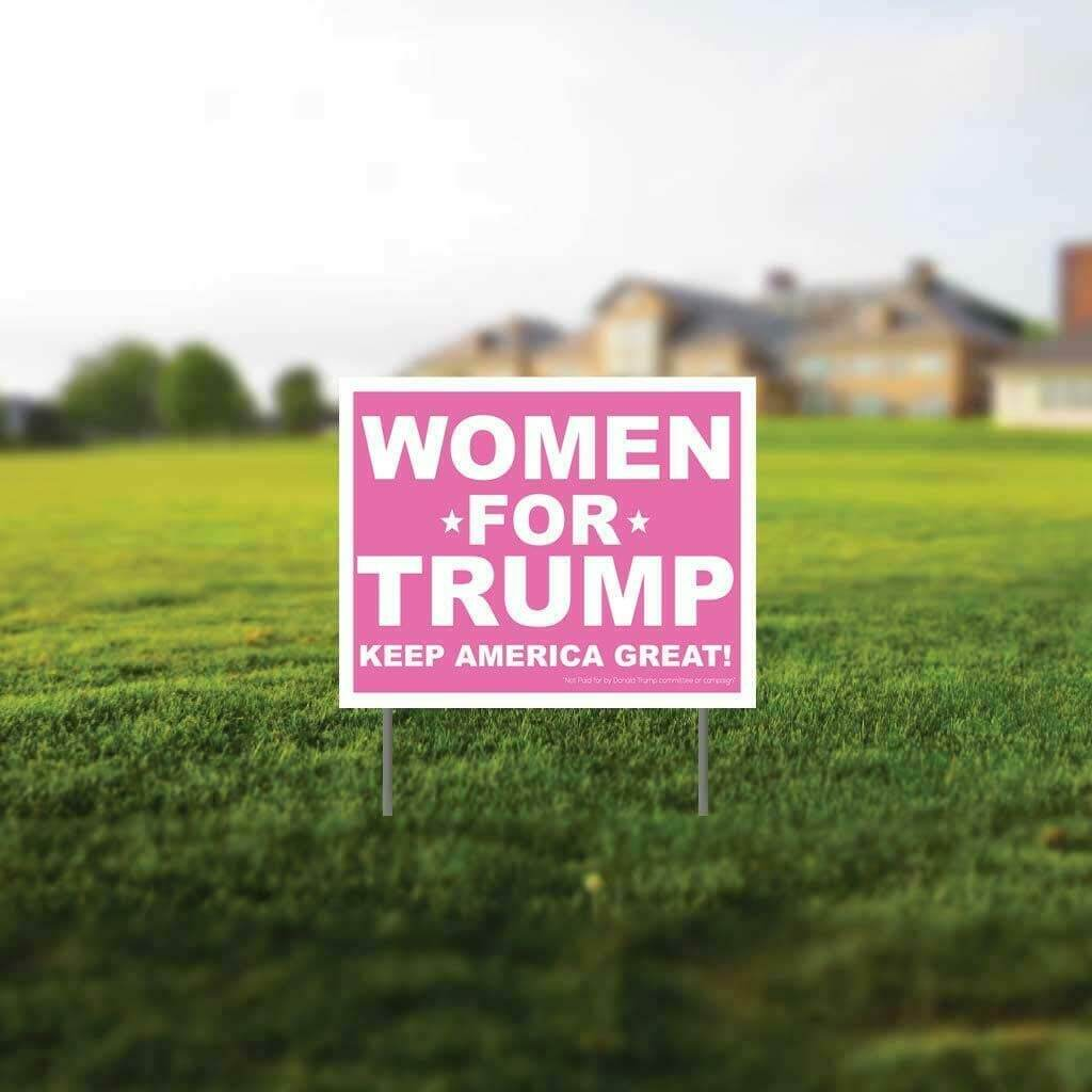 "Women for Trump 2020 Gift Pack - 11""x14"" Yard Sign w/stakes, Decal & Can Cooler - FREE SHIPPING"