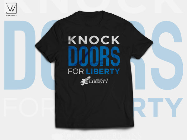 Young Americans for Liberty - Knock Doors for Liberty T-Shirt