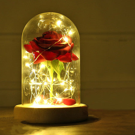 ... Beauty And The Beast Rose Lamp ...