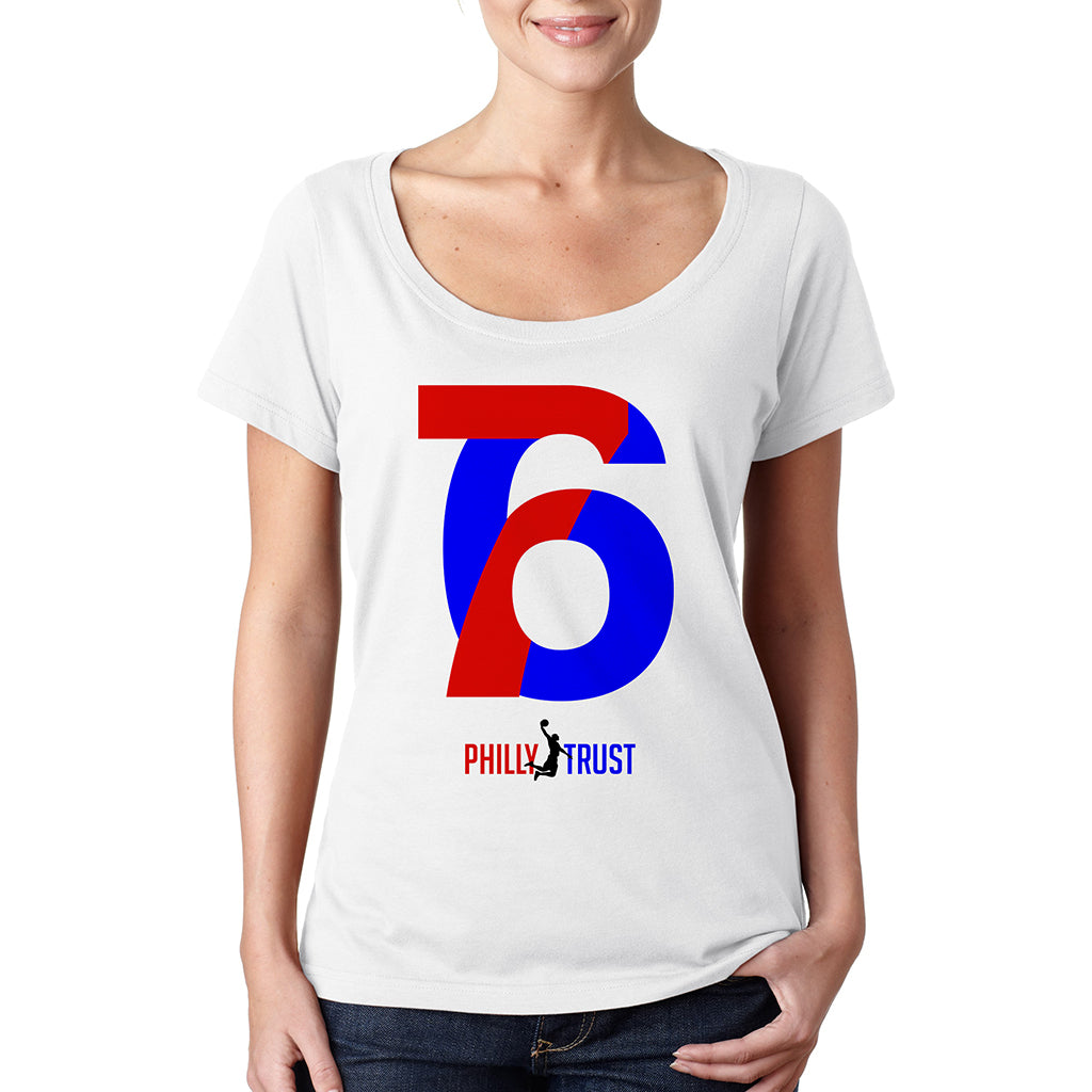 76 Philly Trust •  Women's Sheer Scoopneck T-shirt