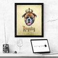 Boxer  Royalty • Framed Poster