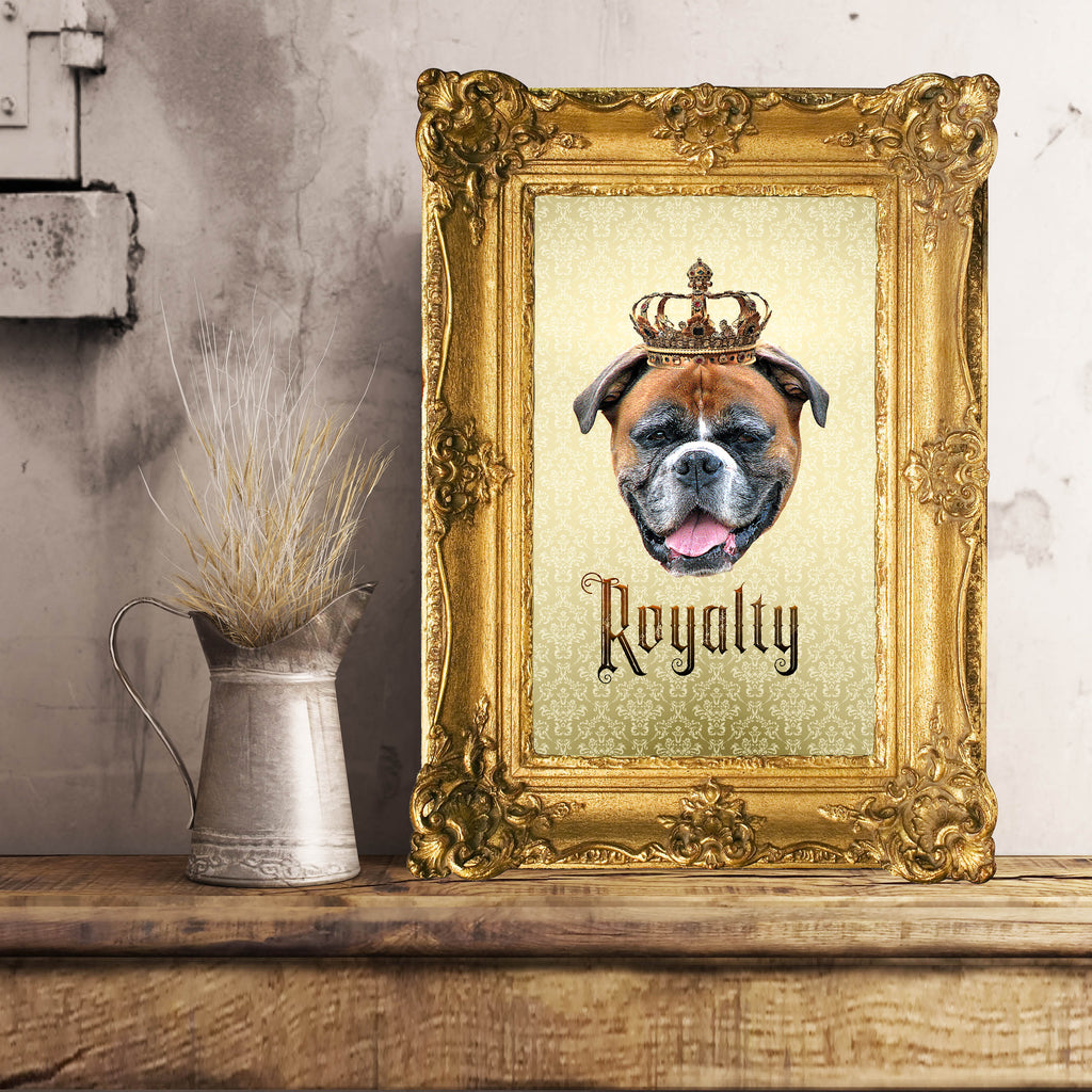Boxer Royalty Unframed, Customizable Poster