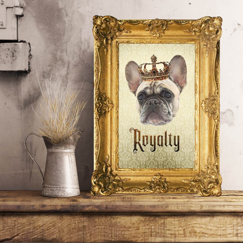 French Bulldog Royalty Unframed, Customizable Poster