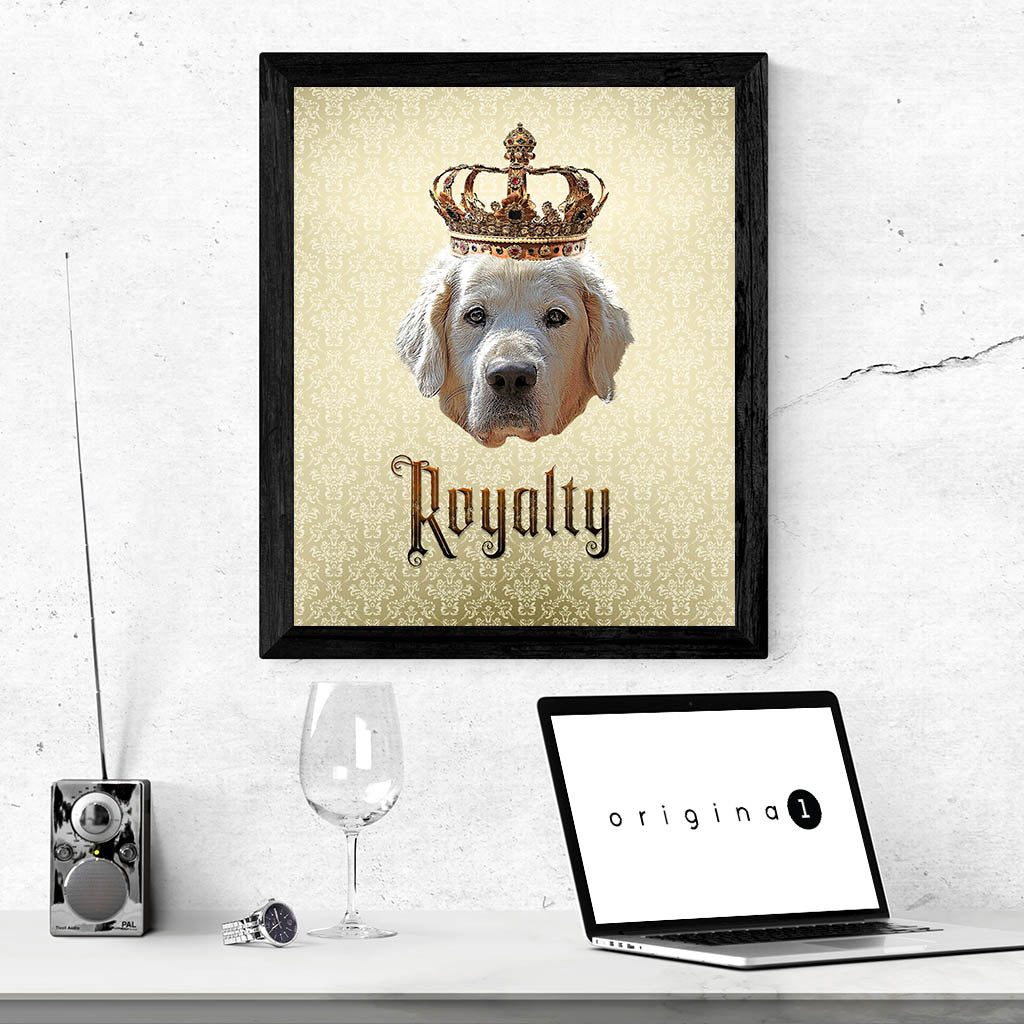 Golden Retriever Royalty • Framed, Customizable Poster