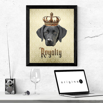 Labrador Retriever Royalty • Framed Poster