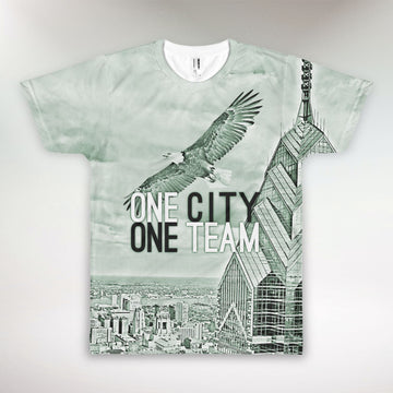 Eagle Soaring Over Philly • All-Over-Print T-Shirt