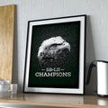 SB-LII Champions • Eagle & Philly Skyline Merged • Poster (Unframed)